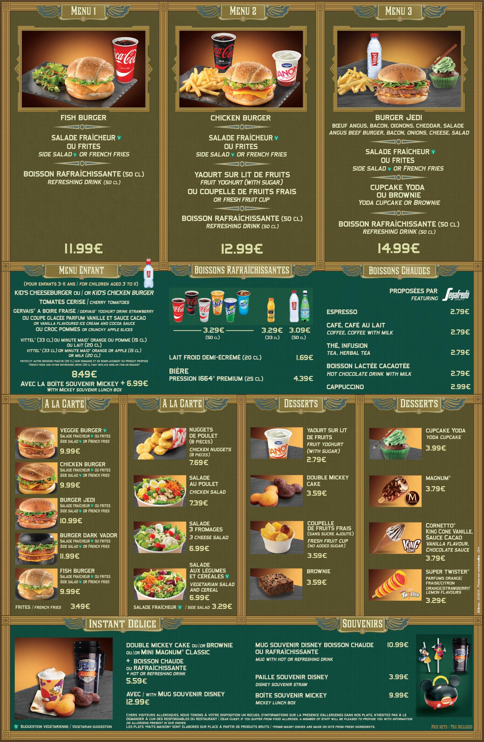 menu café hypérion